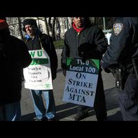 New York City transit strike.-Main