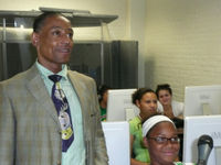 Giancarlo Esposito watches dailies at WFF Summer Film Intensive